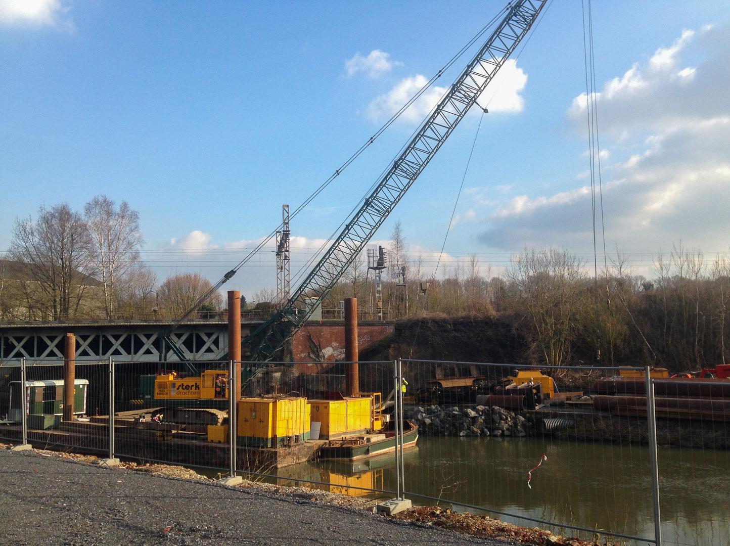 Sterk - Fundatie spoorbruggen Hautmont en Maubeuge