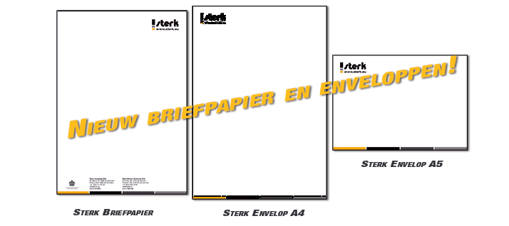 Sterk - Nieuw briefpapier en enveloppen